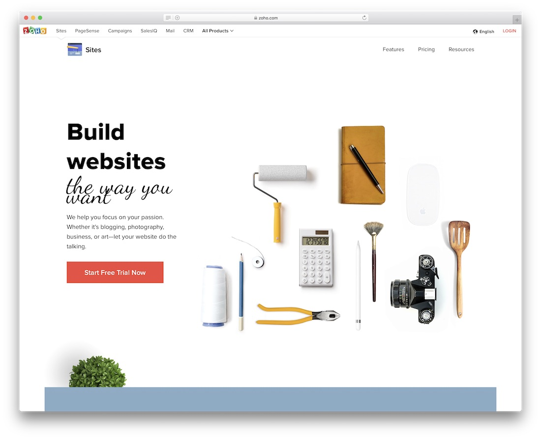 zoho school and teacher website builder