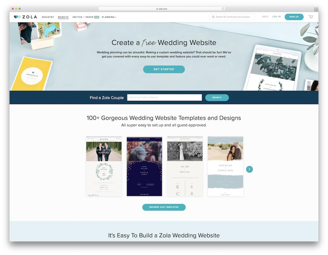 20 best wedding website builders for gorgeous sites 2018 colorlib