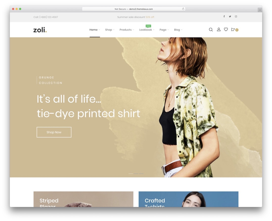 zoli fashion ecommerce theme