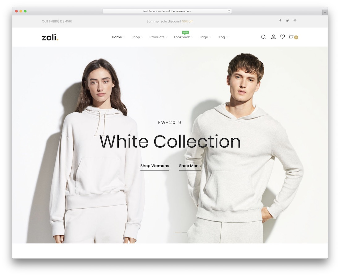 zoli minimalist wordpress theme