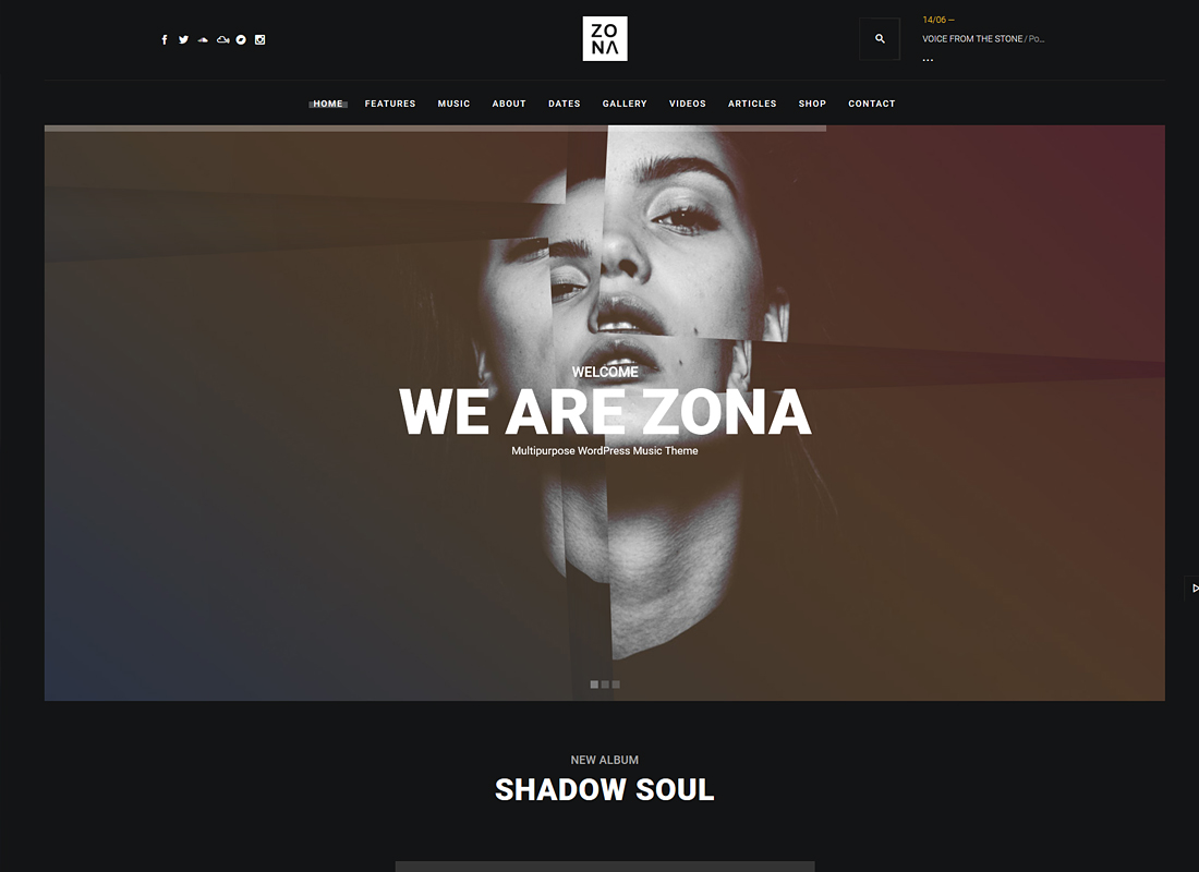 Zona | Multipurpose Music WordPress Theme with Continuous Music Playback