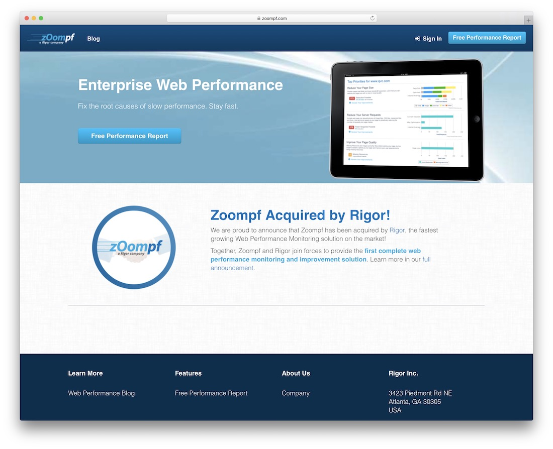 zoompf code quality testing tool