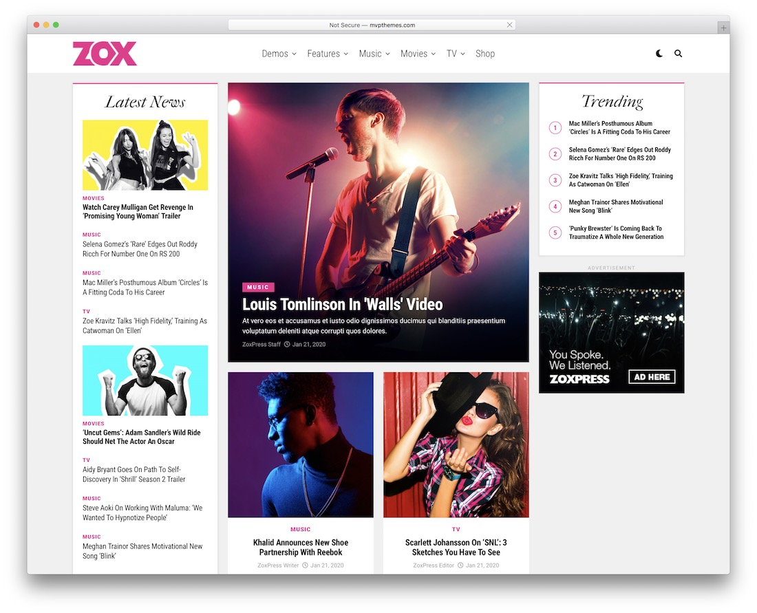 zoxpress adsense wordpress theme