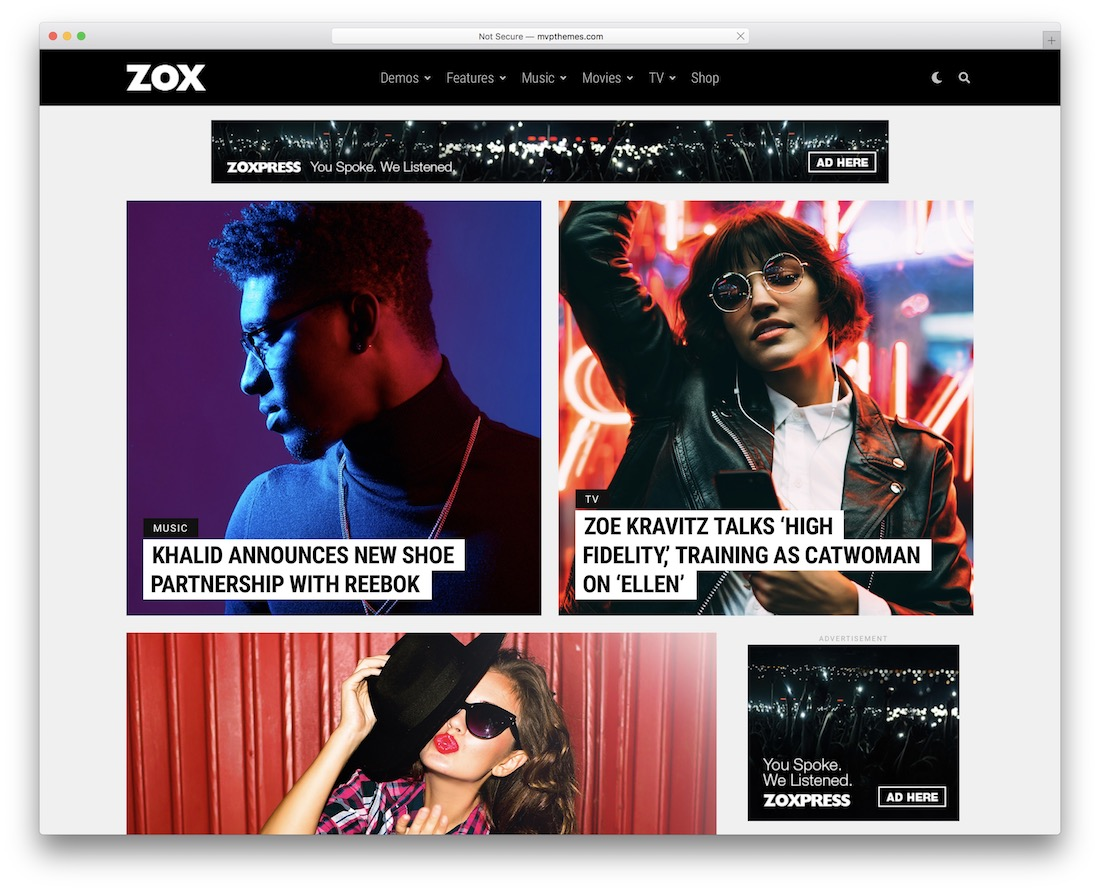 zoxpress amp template