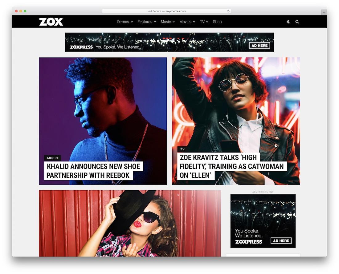 zoxpress lifestyle blog theme