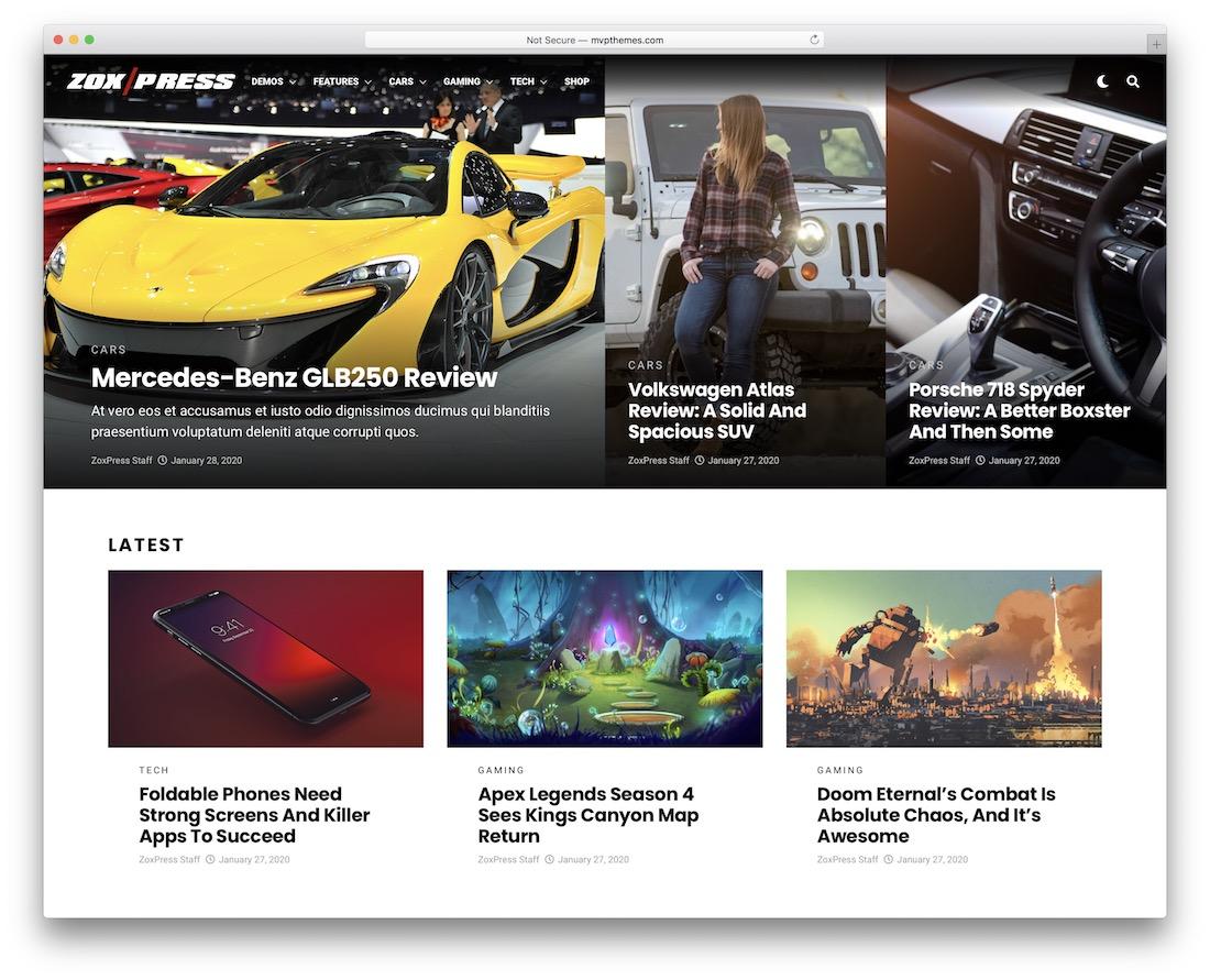 zoxpress technology news wordpress theme