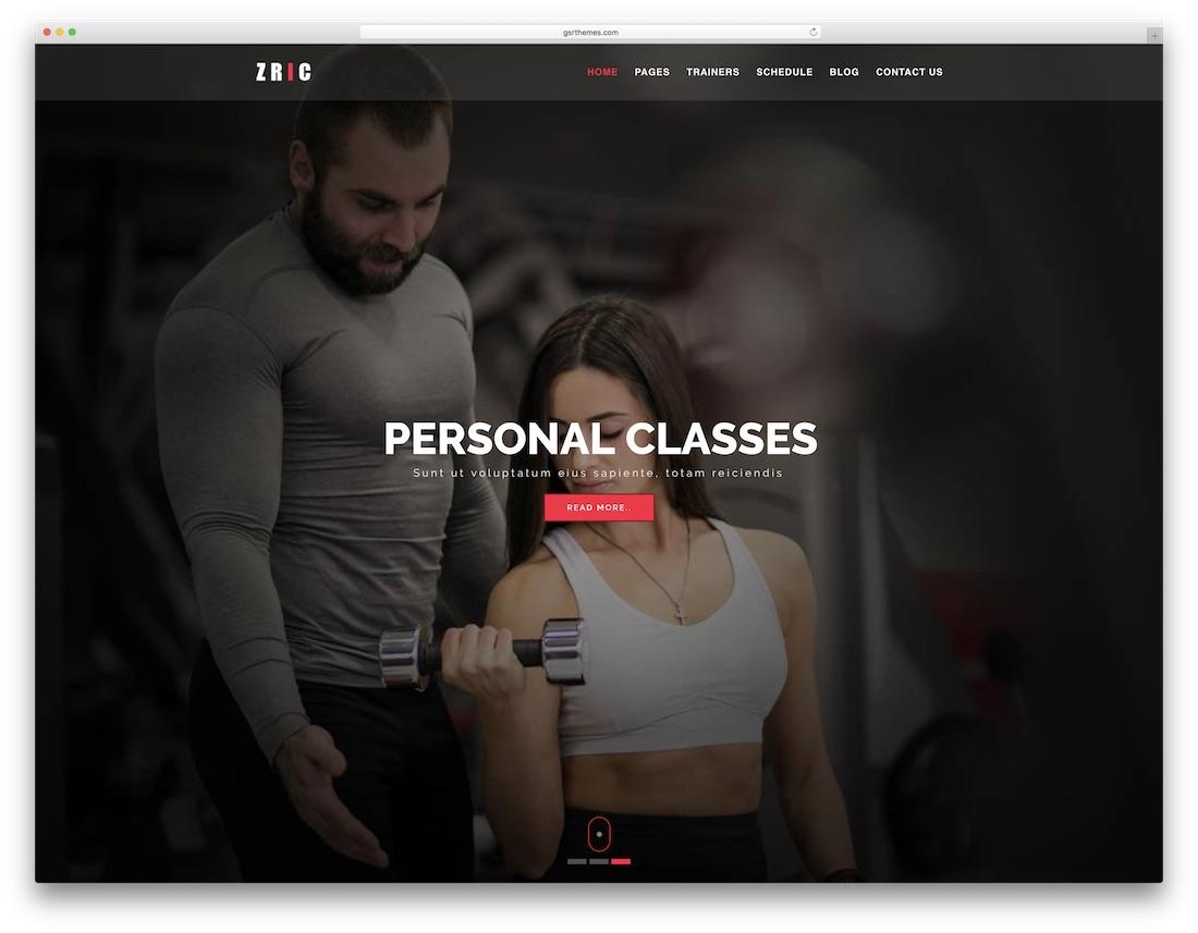zric cheap website template