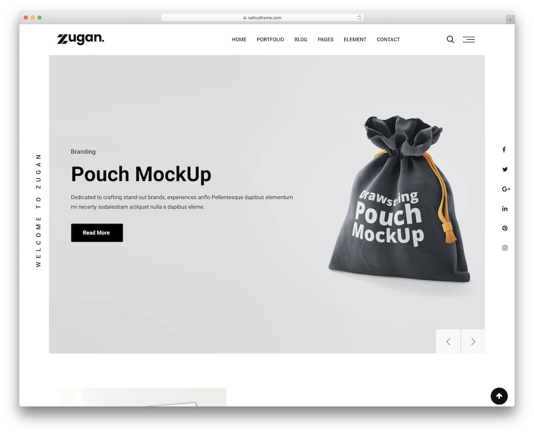 zugan graphic design website template