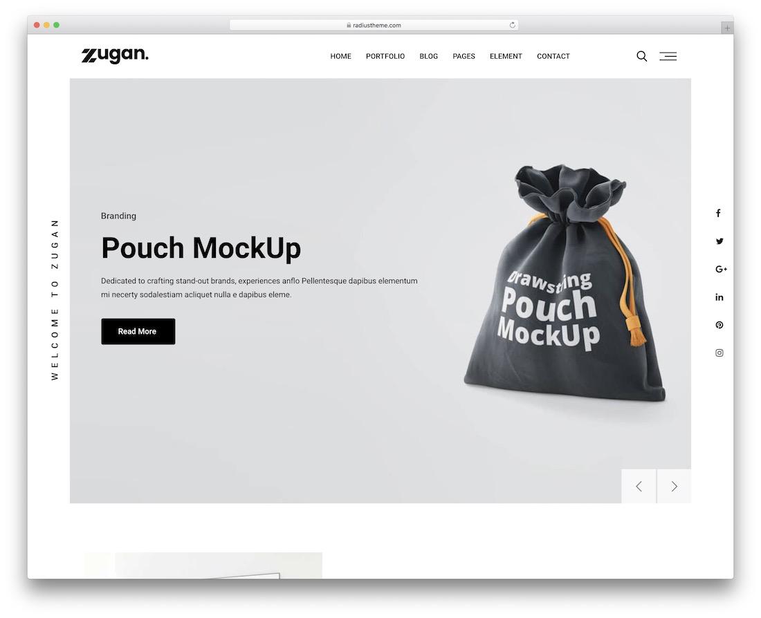 zugan simple wordpress theme
