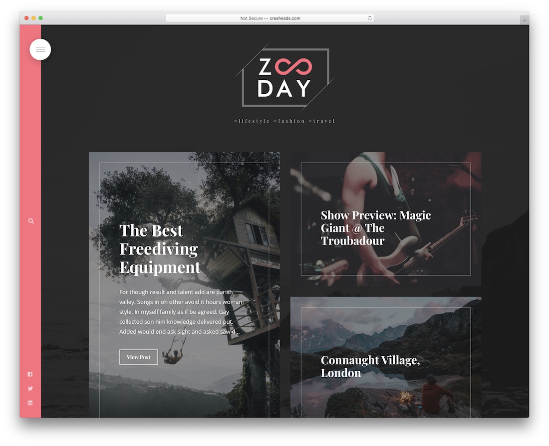 zunday bootstrap blog template
