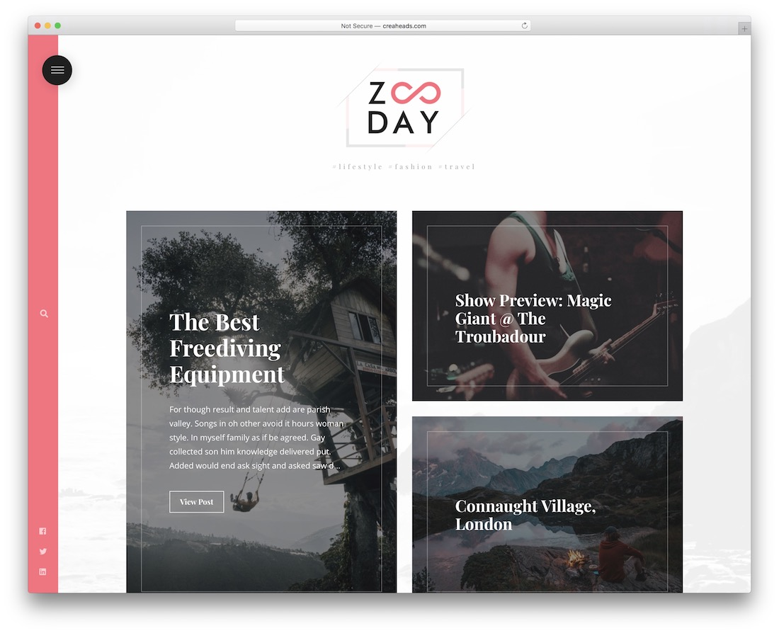 zunday minimal website template