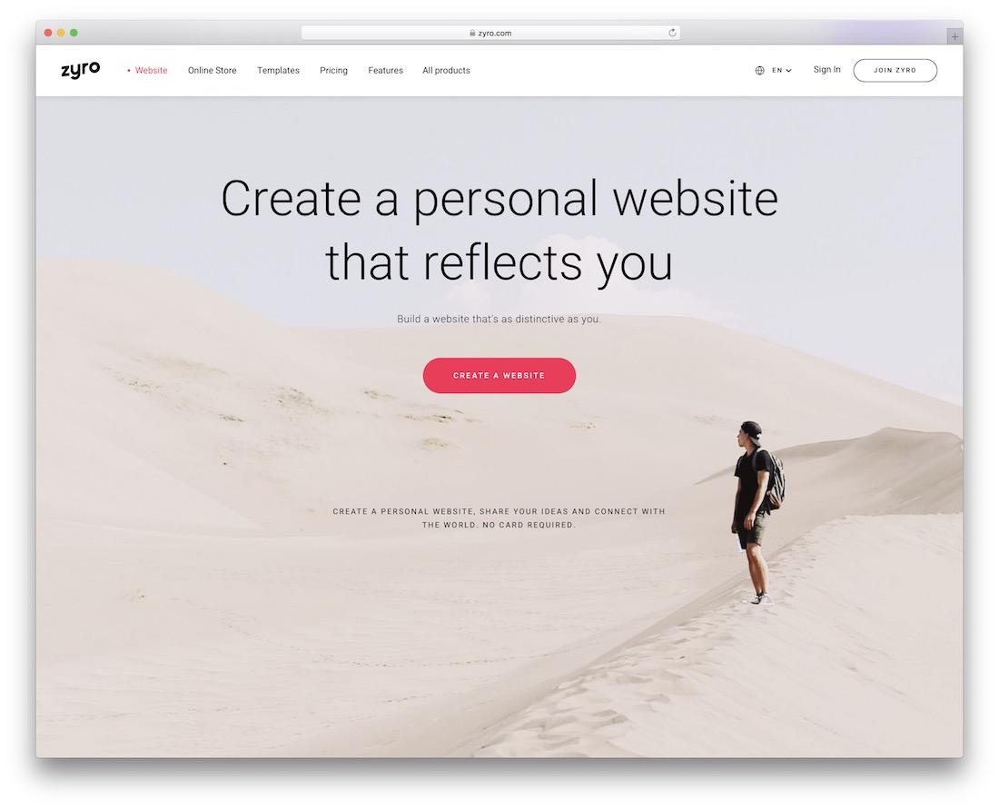 zyro personal website builder