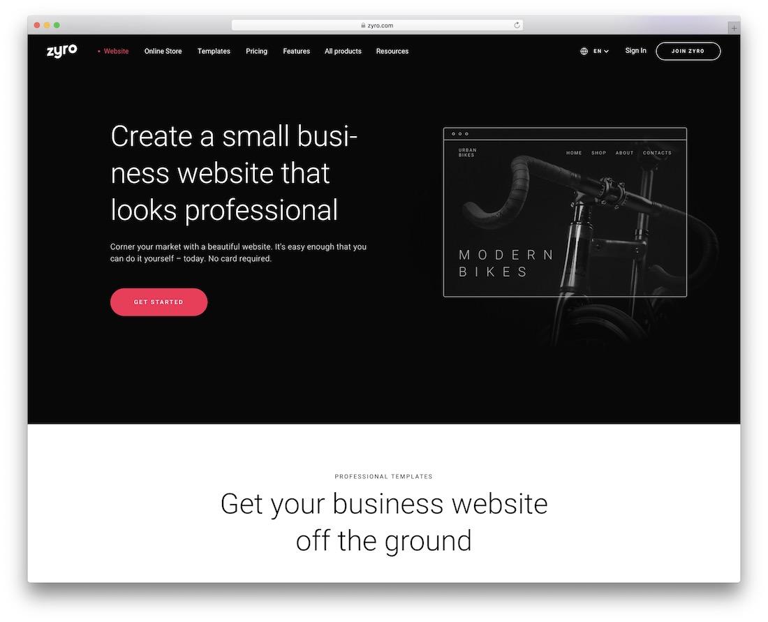 zyro website builder for businesses