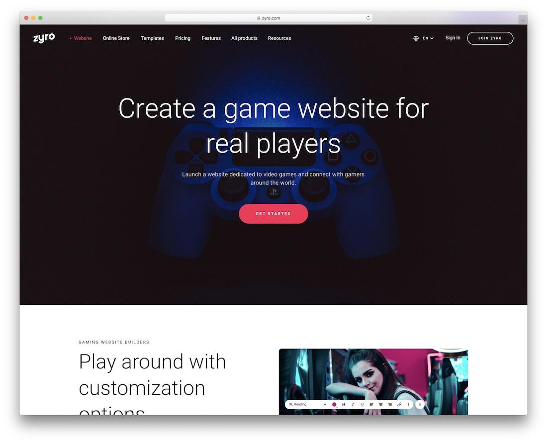 zyro website builder for communities