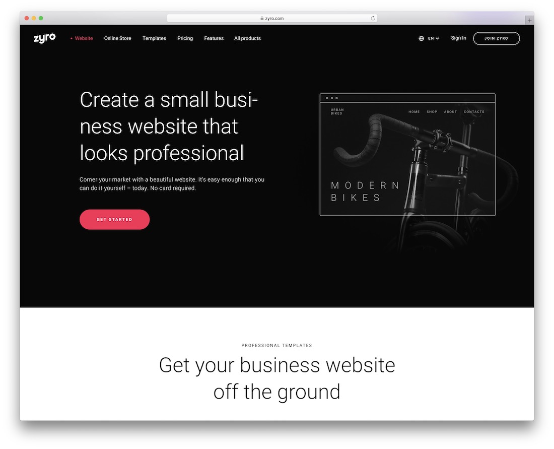 zyro website builder for small businesses